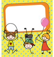 children playing card vector image