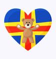 Aland Teddy Bears vector image