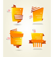 Four orange paper circles with place for your own vector image vector image