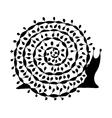 Art snail ornate zentangle style for your design vector image