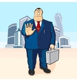 Boss or businessman Tall buildings vector image