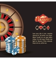 cards roulette casino icon vector image