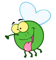 Happy Fly Cartoon Mascot Character vector image