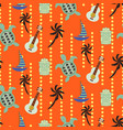 hawaii beach orange seamless pattern vector image
