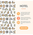 hotel concept infographics banner vector image