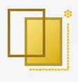 Photo golden frame composition vector image