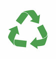 recycle icon green eco cycle arrows recycle vector image