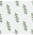 Seamless pattern with hand drawn pine fir branches vector image