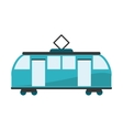 Isolated tram vehicle design vector image