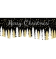Christmas horisontal banner vector image vector image
