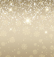 snowflake background 2709 vector image vector image