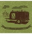 Vintage Poster with Trailer Vehicles Camper Vans vector image