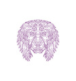 English Cocker Spaniel Dog Head Mono Line vector image vector image