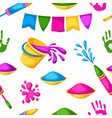 happy holi colorful seamless pattern vector image