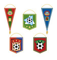 soccer pennants set football flag emblem vector image