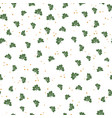 saint patricks day seamless pattern clover leaf vector image
