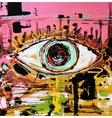 abstract composition of human eye vector image