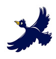 Flying Crow vector image vector image