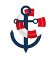 anchor buoy nautical travel maritime vector image