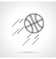 Basketball flat line icon vector image