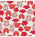 Cartoon robots seamless pattern vector image
