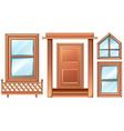 Different door designs vector image