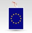 european union tag vector image