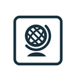 globe icon Rounded squares button vector image