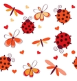 Romantic seamless pattern with dragonflies vector image