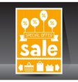 Sale and shopping flyer advertising poster design vector image