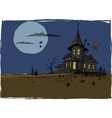 Scarry Halloween House vector image