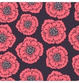 Seamless floral pattern with blooming poppies vector image