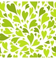 Seamless pattern with green hearts for your design vector image