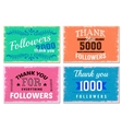 Thank You Followers Emblem Set vector image