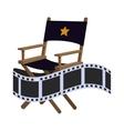 director chair cinema movie design vector image