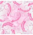 Valentine pink seamless pattern vector image