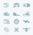 Logistics icons vector image