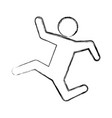 Line pictogram man silhouette running concept vector image