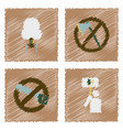 collection of flat shading style icons ecology vector image vector image