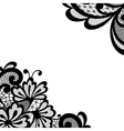 Black lace corner vector image