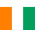 ivory coast flag vector image vector image