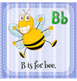 Letter B is for bee vector image vector image
