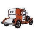 Vintage small firepatrol car vector image