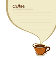 Coffee cup with speech bubble vector image vector image