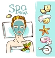 Spa woman waiting spa massage vector image