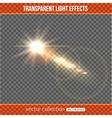 Glowing comet over transparent background Comet vector image