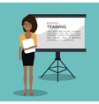 Business woman training process isolated icon vector image