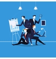 business people at work in vector image