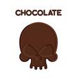 Chocolate Skull Head skeleton of bittersweet vector image