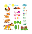 Farm life set vector image